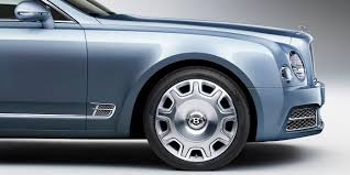 Side View Of A Grey Blue Bentley Mulsanne Front Exterior With