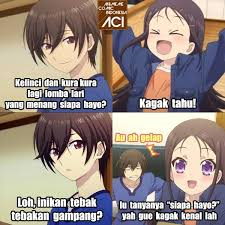 Meme Anime Indonesia - meme anime yang bikin nyengir anime club iyaa com