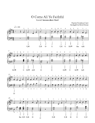 o come all ye faithful by traditional piano sheet music
