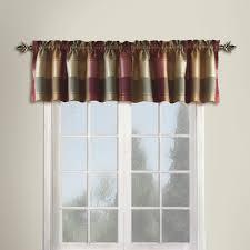 jumping beans aviator blue plaid window valance curtain topper