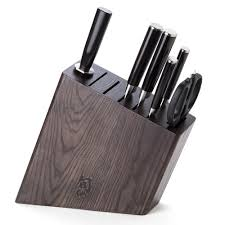 shun classic knife block set b 7pce peter u0027s of kensington