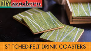 beverage coasters how to make modern drink coasters youtube
