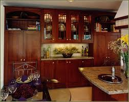 red cherry wood kitchen cabinets home design ideas