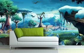 poster de chambre papier peint personnalisé tapisserie numérique paysage pour enfant