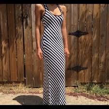 light blue and white striped maxi dress justfab shoes light blue high heels poshmark