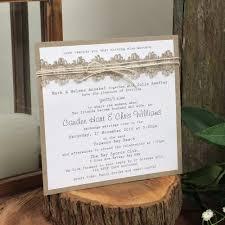 beach wedding invitations rustic natural