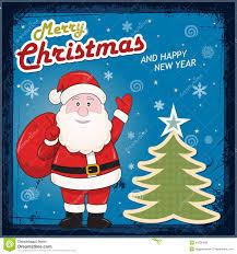 vintage card with santa claus royalty free stock photos