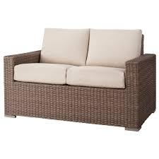 Folding Wicker Chairs Furniture Mesmerizing Wicker Loveseat For Outdoor Or Indoor