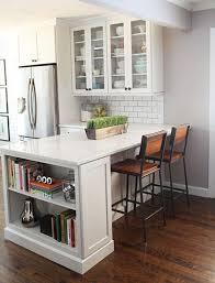 kitchen peninsula cabinets before after showcase ashley s black white kitchen subway