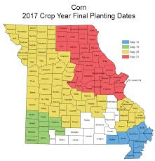 Map Of Missouri State by Crop Insurance Planting Dates Missouri Crop Resource Guide