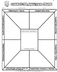 Teachers Printable Worksheets Character Analysis Worksheet Free Student Worksheets Resources For