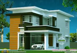 modern flat roof contemporary home kerala home design and floor