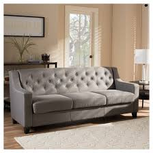 arcadia modern and contemporary fabric upholstered button tufted