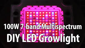 how to build a led grow light diy 100w 7 band multi spectrum led growlight youtube