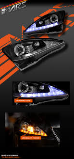 lexus indicator lights lexus is250 is350 isf black led drl day projector lights