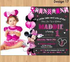 minnie mouse 1st birthday minnie mouse invitation minnie mouse 1st birthday bday