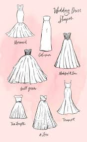 different wedding dress shapes different dress styles fashion dresses