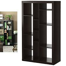 Using 2 Ikea Expedit Bookcases by Amazon Com Ikea Expedit Bookcase Tv Stand Multi Use Black Brown