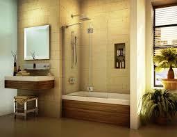 stylish bath tub glass doors