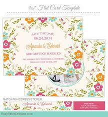 save the date card photoshop template for photographers save the
