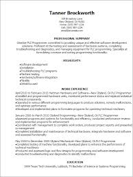 Resume Examples For Teachers No Experience by Beautiful Resume Templates Plc Programmer Resume With Programmer