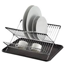 Dish Drainers X Shape Dish Rack Copper Plated Dish Holder Folding Dish Drainer