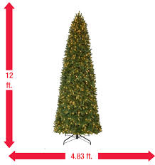 12 ft pre lit led sierra nevada quick set artificial christmas