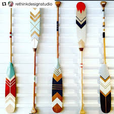 Oar Decor by Decorative Oars And Paddles Canoe Painted Decoration Top Best