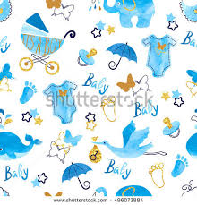 baby shower for a boy baby shower boy seamless pattern vector stock vector 496073884