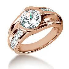 diamond men rings images Large 3 carat men 39 s diamond solitaire pinky finger ring jpg