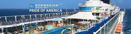 norwegian u0027s pride of america cruise ship 2017 and 2018 pride of