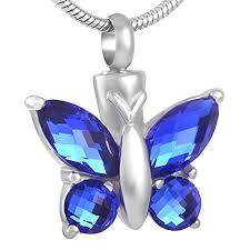 necklace urns for ashes chapel hill memorial park blue butterfly urn necklace for ashes