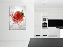 tableaux cuisine tableau cuisine motif fraise à prix réduit boutique hexoa