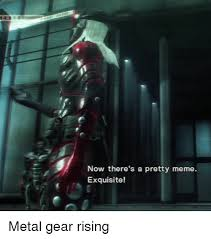 Metal Gear Rising Memes - now there s a pretty meme exquisite metal gear rising meme on me me