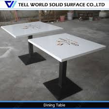 Corian Table TopWhite Restaurant Square DeskCnc Table  Buy Cnc