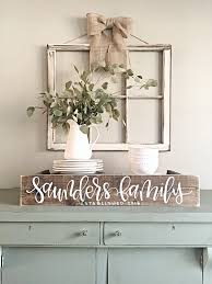 Reclaimed Wood Home Decor Last Name Sign Rustic Home Decor Wedding Established Date