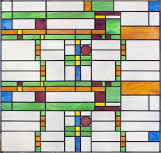 frank lloyd wright design style flwbig1 abstract leaded stained glass window frank lloyd wright