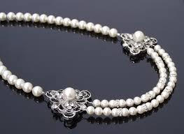 pearls swarovski necklace images Vintage style pearl necklace swarovski pearls rhinestones eve jpg