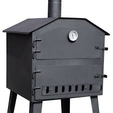 outsunny new patio outdoor garden pizza oven bbq barbecue grill