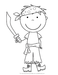 boy pirate coloring page