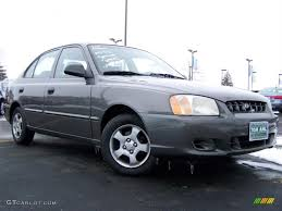 hyundai accent 2001 for sale 2001 charcoal gray hyundai accent gl sedan 26068000 gtcarlot