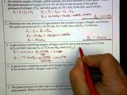 dalton u0027s law example problems youtube