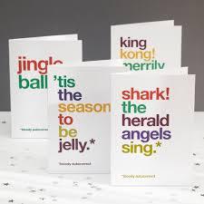 humorous christmas card pack funny christmas cards jingle