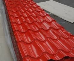 prepainted galvanized corrugated colored roofing sheet for