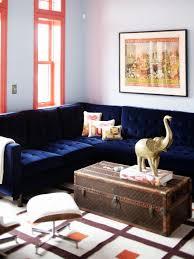 red cream cotton sectional sofa blue fabric curtain area carpet