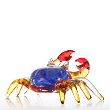 crab decorations for home best and cheap multicolored tooarts flower crab gift glass