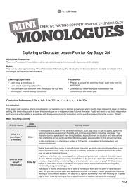 Examples Of Interior Monologue Writing A Monologue By Youngwriters Teaching Resources Tes