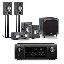 2 1 blu ray home theater system denon avr x4300h av receiver with monitor audio bronze 2 av speakers