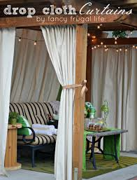 Diy Cheap Curtains Cabana Patio Makeover With Diy Drop Cloth Curtains