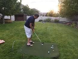 backyard golf home outdoor decoration